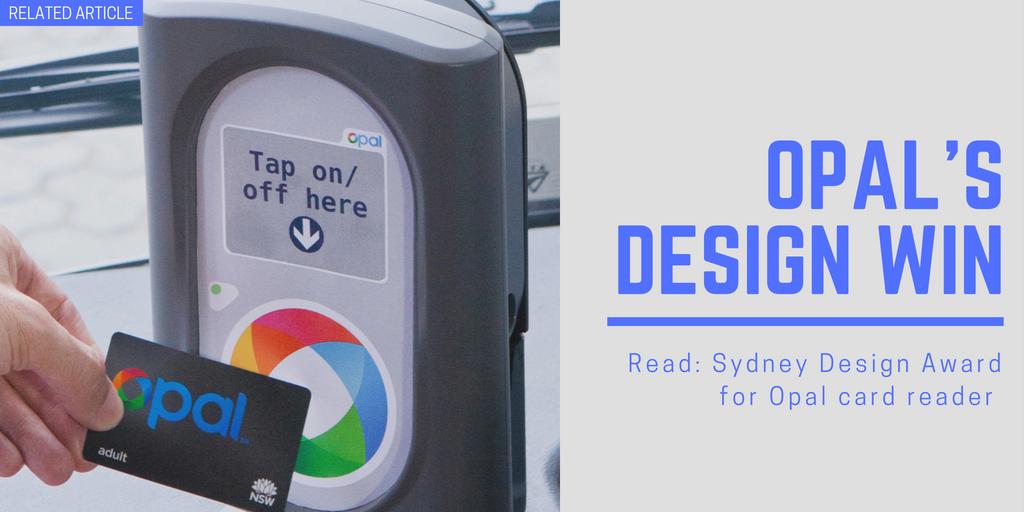 Sydney Design Award for Opal card reader