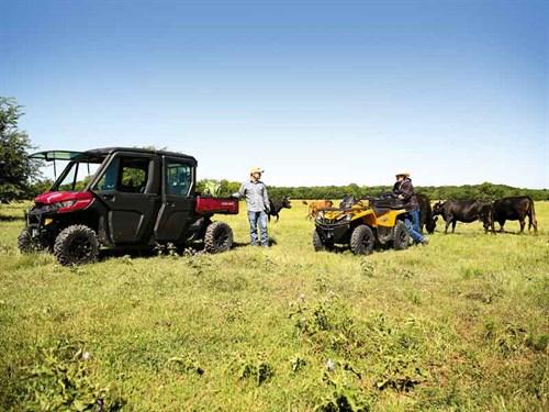 Outlander -DPS-570-Orange ---Defender -MAX-XT-CAB-HD10-Intense -Red ---Cattle -4