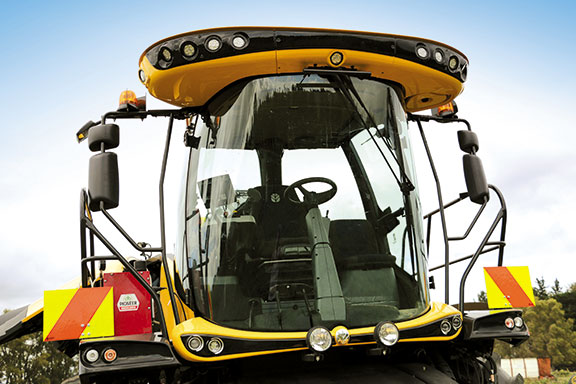 The rounded fish bowl cab gives almost unimpeded 360-degree visibility