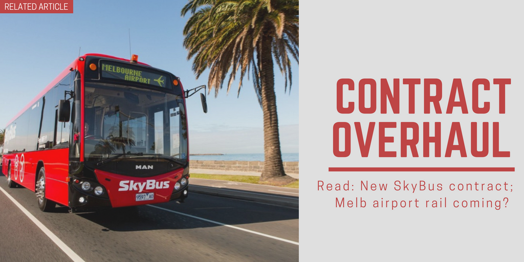 Related article: New SkyBus contract; Melb airport rail coming