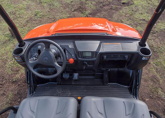 The Kubota RTV X900 working in the mud