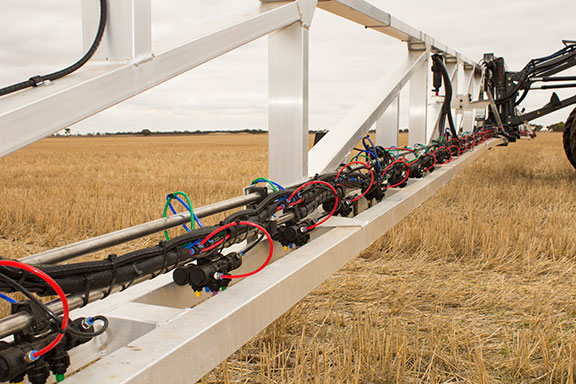 The nozzle system on the Hardi Rubicon range