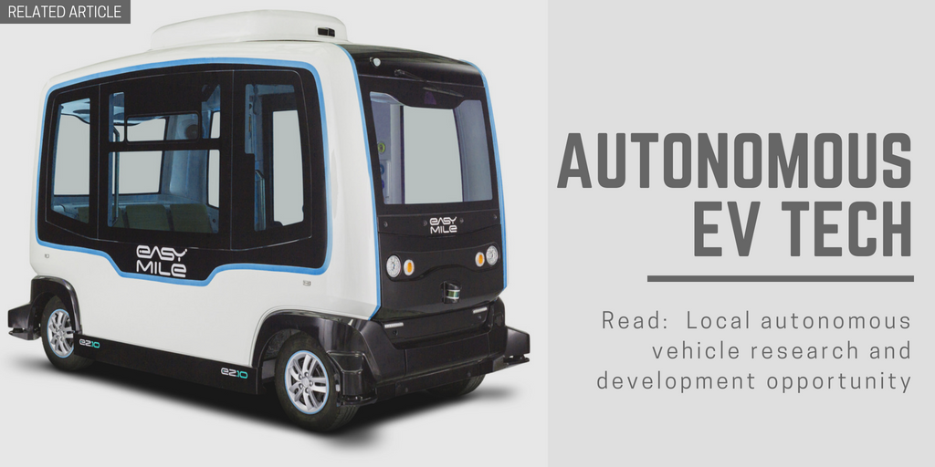 Related article: Local autonomous vehicle research and development opportunity